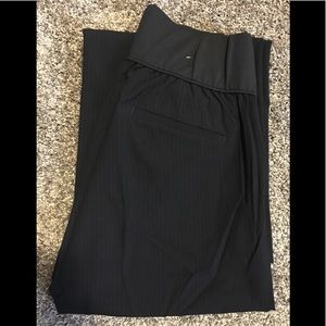 Gap Maternity Dress Pants Size 4R Navy Pinstripe